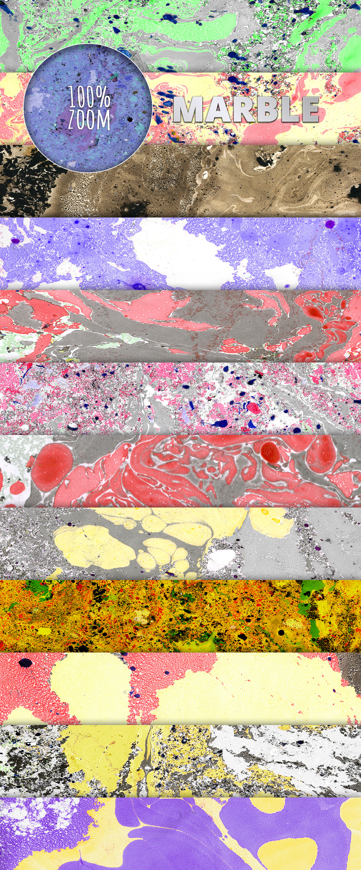 12 Example of Marble Painting Textures