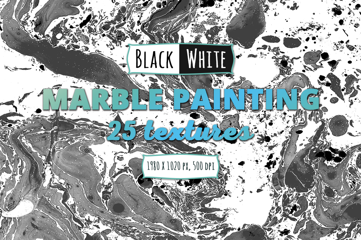 25 Black & White Marble Paint Backgrounds